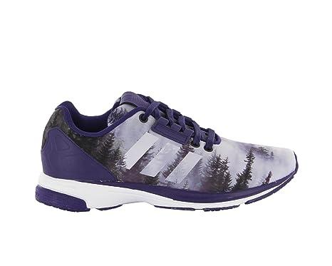 premium selection c77ea 002e1 Adidas Mens Originals ZX Flux Tech Shoes Dark Purple(B34462) Size UK 5.5