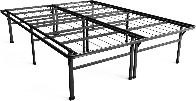 Zinus Arnav Modern Studio 10 Inch Platform 2000H Metal Bed Frame Mattress Foundation Wooden Slat Support With Headboard Good Design Award Winner, Queen