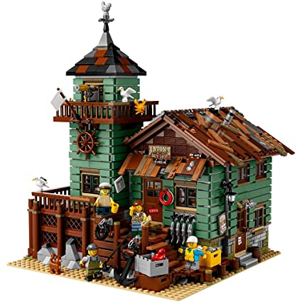 LEGO Ideas Old Fishing Store Building Kit, Building Sets - Amazon ...