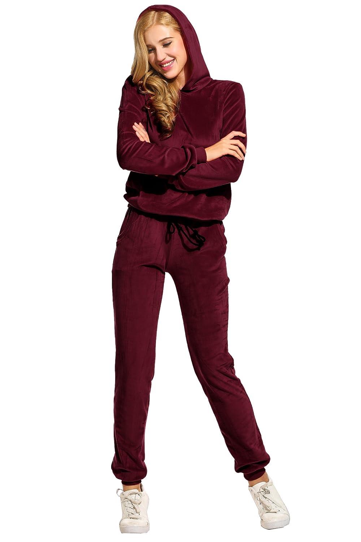Tracksuits & Sets New Women Ladies Sweatshirt Jogger Lounge Wear Tracksuit Set Jumper Pants 8-14 100% Original
