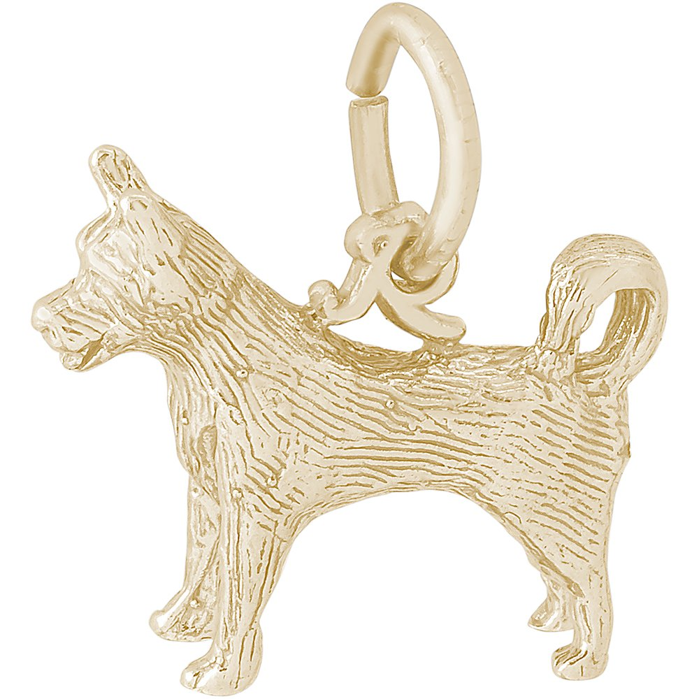 Rembrandt Charms 10K Yellow Gold Husky Charm (13 x 15.5 mm)