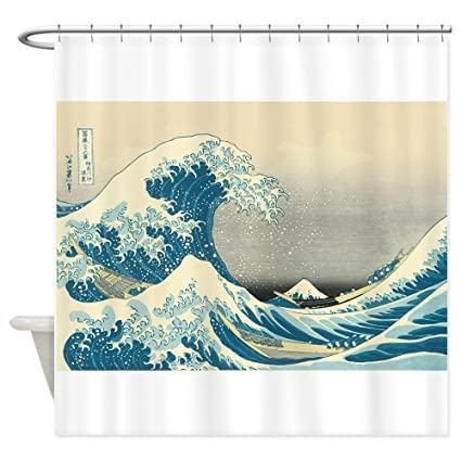 CafePress Hokusai Great Wave Shower Curtain Decorative Fabric 69quot