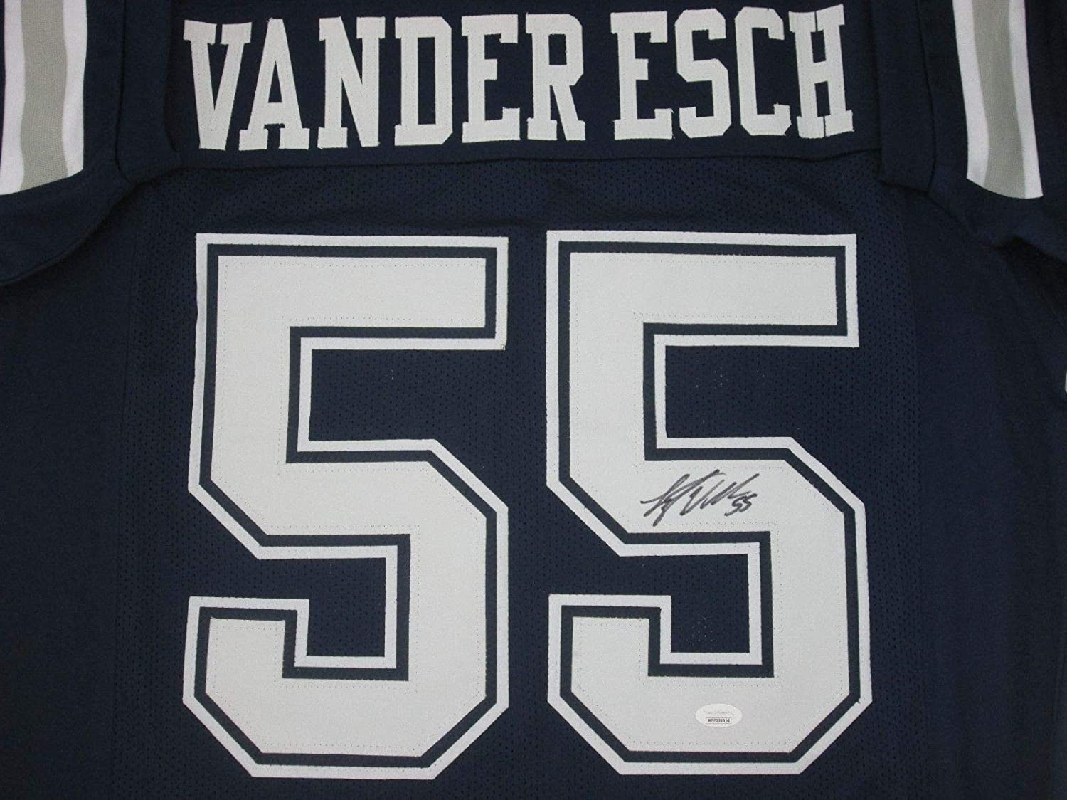 4f18234e671 Cowboys Leighton Vander Esch Autographed Signed Custom Navy Jersey Auto JSA  Boise State at Amazon s Sports Collectibles Store
