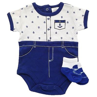 Baby Essentials Short Sleeve Bodysuit and Socks Gift Set