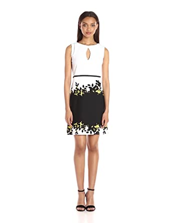 d0150841f51 Gabby Skye Women s Elbow Sleeved Printed Sheath Dress at Amazon ...