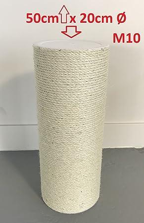 0c50301dcdae81 Ersatzstamm (1 Stuck) für Qualitäts Kratzbäume Kratzbaum 20cmØ und 50 cm  Länge M10 gewinde Sisalstamm grosse ...