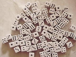 Xuxuou 8mm dado bianco plastica lucido nero opaco, macchie comune convenzionale giocatori dedicato dadi 100pz/set