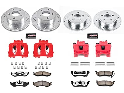 Amazon power stop kc2154 36 front rear z36 truck and tow power stop kc2154 36 front rear z36 truck and tow brake kit with calipers swarovskicordoba Choice Image