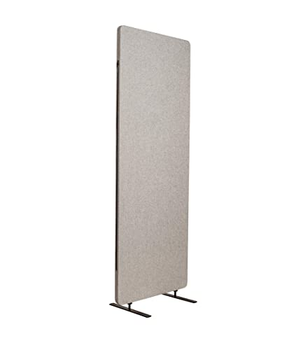 ReFocus Acoustic Room Dividers Office Partitions Reduce Noise and Visual Distractions with These Easy to Install Wall Dividers 24 x 66 Freestanding, Cool Gray
