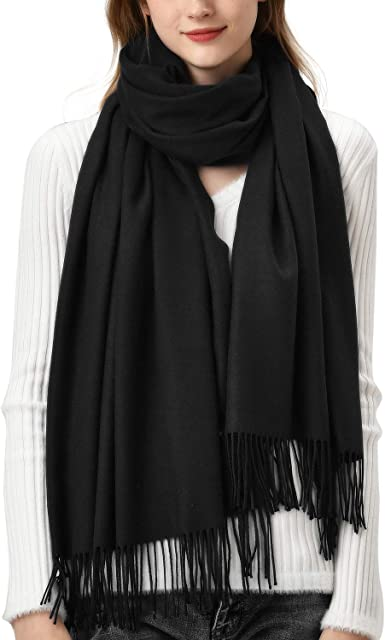 Warm Soft /& Light COTTON Blend WOOL SCARF Floral Ladies Winter Blanket Wrap UK