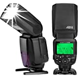 Powerextra FK-910 GN60 HSS 1/8000s i-TTL Speedlite Master Slave AF Assist Lamp Speedlight Flash for Nikon D70 D50 D80 D3200 D3300 D5300 D500 D800 D600 D300 D750 D60 D7200 & Others Nikon DSLR Cameras
