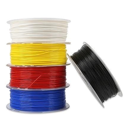 HANO Creality 3D® Blanco/Negro/Amarillo/Azul/Rojo 1kg 1,75 mm PLA ...