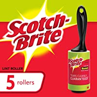 Scotch-Brite 836RS-95-5CPA Lint Roller Combo Pack, 5-Rollers, 95-Sheets/Roller (475 Sheets Total), Green