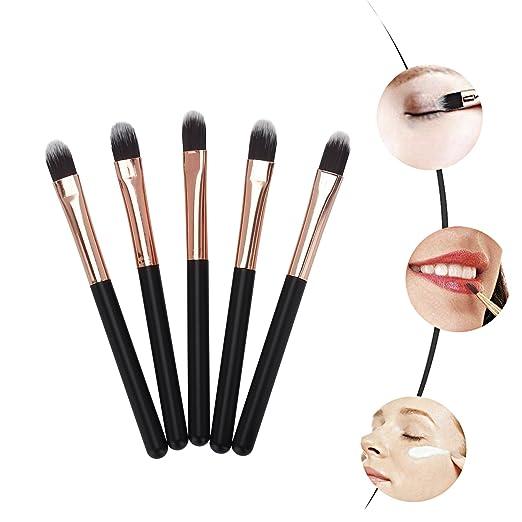 Miss Gorgeous Mini Eye Makeup Brushes (Soft Synthetic Hair) Eyebrow Eyeshadow Brush - Concealer Blush Lip Makeup Brushes (5 Pcs/Set)