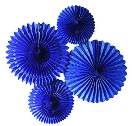 Amazon.com: Furuix Tissue Paper Fan Set Navy Blue for Baby Shower ...