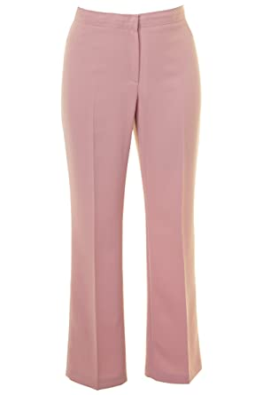 096b4f2ad61559 Busy Clothing Women Smart Trousers Dusty Pink: Amazon.co.uk: Clothing