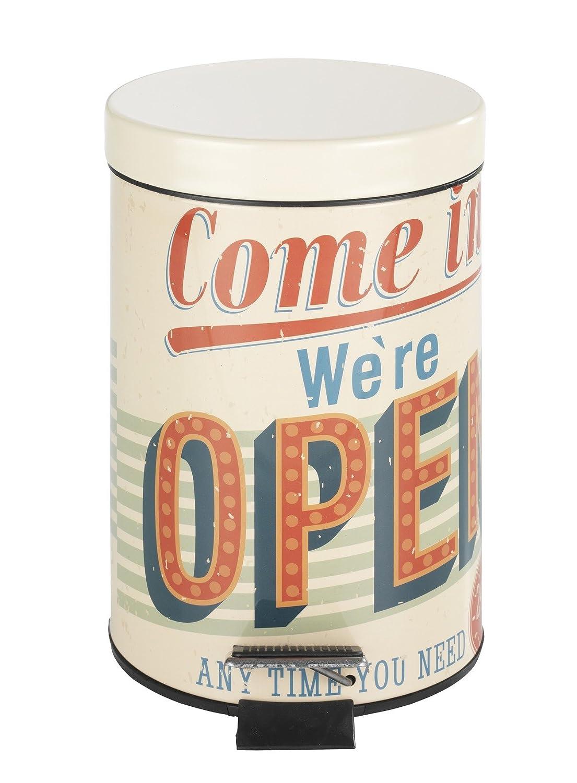 Poubelle Salle De Bain Vintage ~ wenko 21605100 poubelle de salle de bain p dale vintage open 3