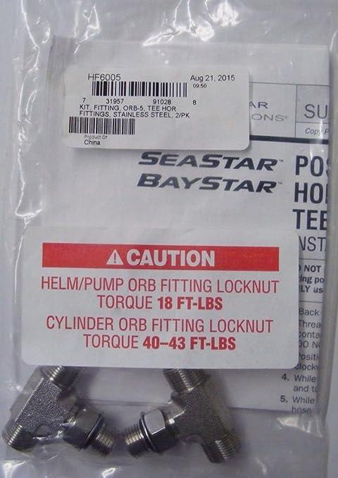 Teleflex SeaStar HF6005 ORB Cylinder Tee Fitting Kit
