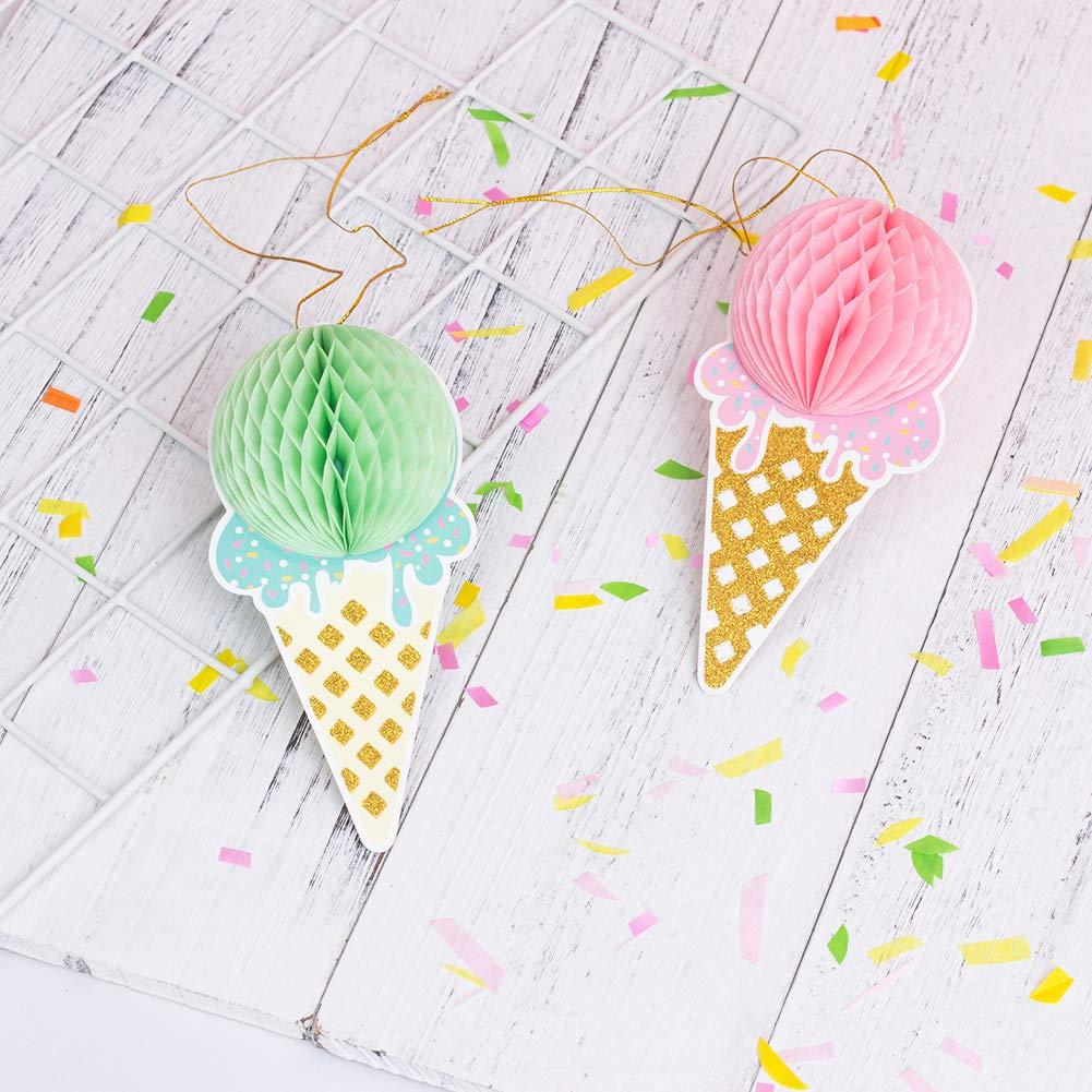 Ice Cream Wabenb/älle Eiscreme Dekoration Baby 32cm Gro/ß Kinderzimmer Deko Blau