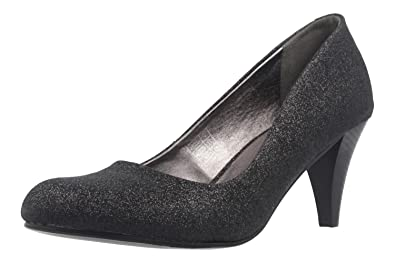 Fitters Footwear Pumps in Übergrößen Schwarz NEW 19858 große Damenschuhe, Größe:43