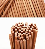 Chinese Natural Bamboo Chopsticks, Mannice 10.6Inch / 27cm Long Lightweight Chopstick Set -10 Pairs Gift Sets Color1