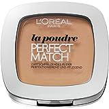 L'Oréal Paris Perfect Match Compact Puder, W3 Golden Beige/Make-Up Puder mit individueller Deckkraft und LSF, für jeden Hauttyp/1 x 9 ml