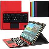 CoastaCloud Bluetooth 3.0 Tastiera Cassa con QWERTY Italiano Layout Smontabile Tastiera e multi touchpad - Compatibile con 9.0 -10.6 pollici Qualsiasi Windows / Android OS Tablet PC (Tablet formato adeguato: Min 15x24cm Max 18x26cm)Rosso