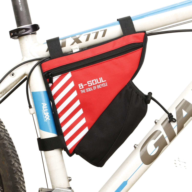 Color : Black Bicycle Saddlebag Bike Bag Saddlebag Triangle Bag