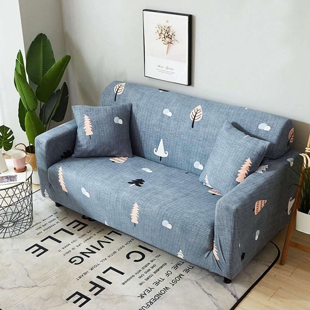 KKONION Geometric Tropical Plants Printing Spandex Elastic Sofa Protector Slipcover Case Cosy Anti-dirty Stretch Sofa Covers