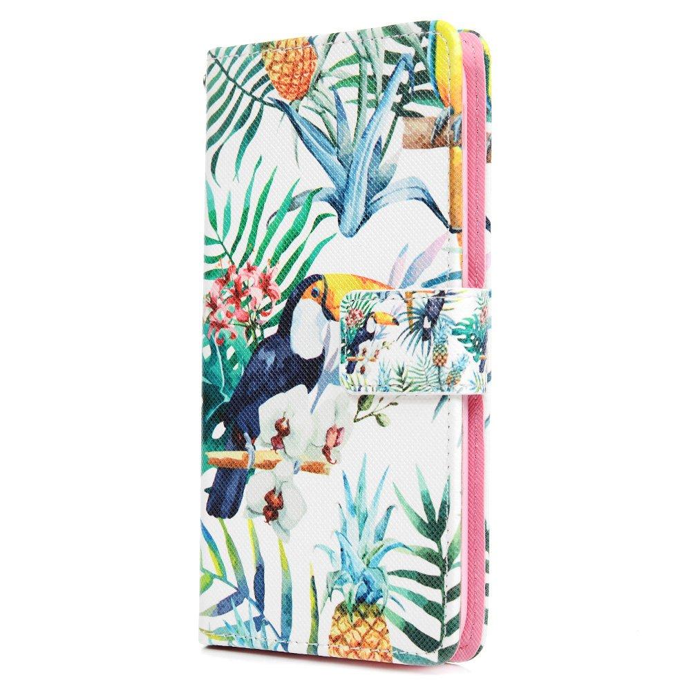 Coque pour Samsung Galaxy J5 2017 LANVY Bookstyle tui Conception Exquise Housse Imprim en PU Cuir Case rabat Coque de protection Portefeuille Case pour Samsung Galaxy J5 2017 - Flamant rose