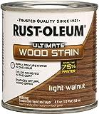 Rust-Oleum 260372 Ultimate Wood Stain, Half Pint, Light Walnut