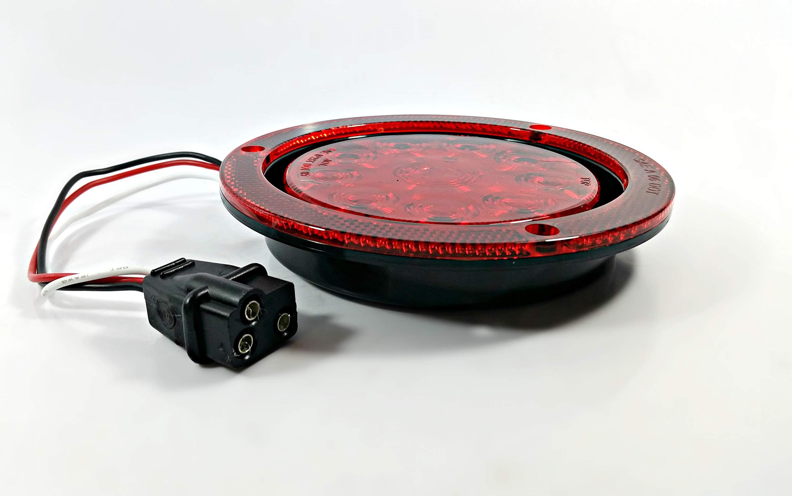 Kaper II L15-0065 Red 4'' LED Stop/Turn/Tail Light by Kaper II