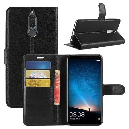 Amazon.com: Huawei Mate 10 Lite Funda, fettion Premium PU ...
