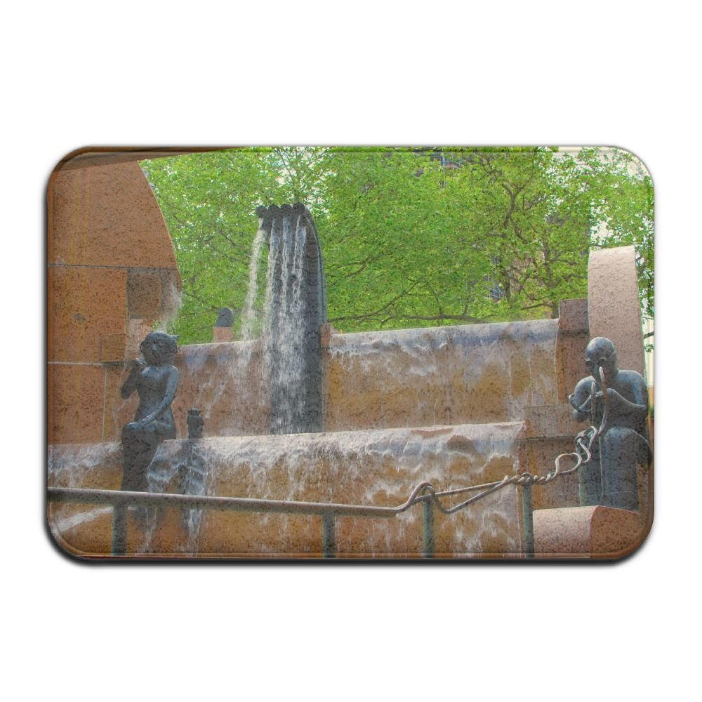 Fountain Berlin Germany Architecture Non Slip Indoor Doormat For Home Office Clean Absorbent Antiskid Kitchen Bath Mats