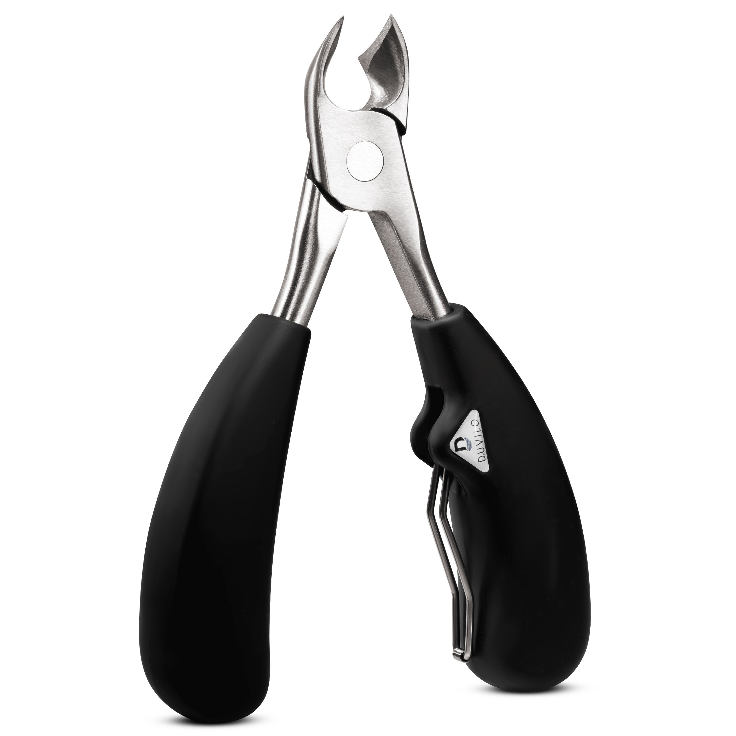 Heavy Duty Toenail Clippers for Ingrown and Thick Nails - Super Sharp Blades with Soft Ergonomic Grip Handles for Faster Nail Clipping - Professional Trimmer Pain Free by Duvilo by Duvilo (Image #5)