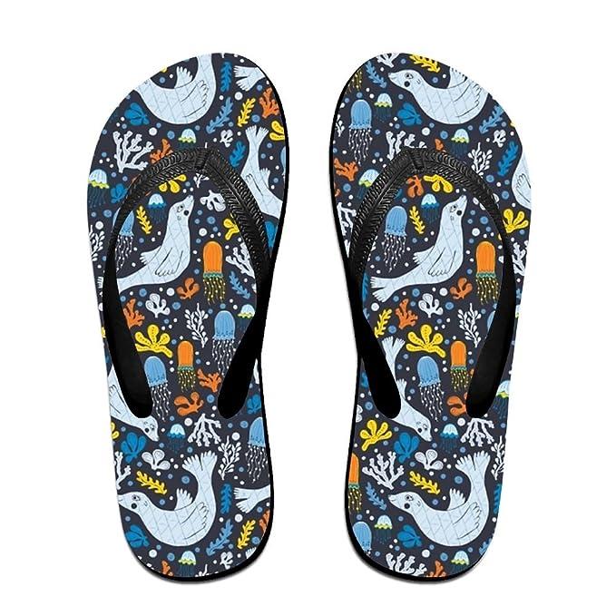 be339d4b84958 Amazon.com: Classical Flip Flops Funny Sandy Flat Thong Sandals ...