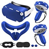 for Oculus Quest 2 Accessories, Quest 2 VR Silicone face Cover, VR Shell Cover,Quest 2 Touch Controller Grip Cover,Protective