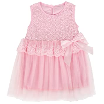 b072cbe40590 Itaar Baby Girl s Princess Dress Lace Bud Spinning Jumper Skirt Flower  Pattern with Silk Bowknot One