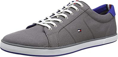 Flag Canvas Trainers, Grey, 10.5 UK