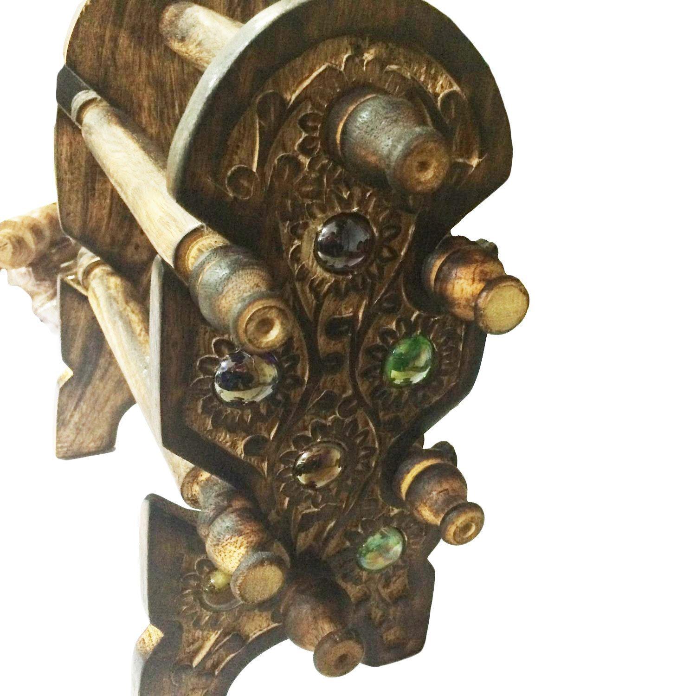 Pulsera de madera soporte Negro Pulsera Soporte pulsera de madera Holder Soporte soporte para 6 pulsera