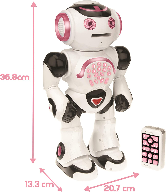 Lexibook Powergirl Smart Interactive Télécommande Boy Robot-Rose//Violet