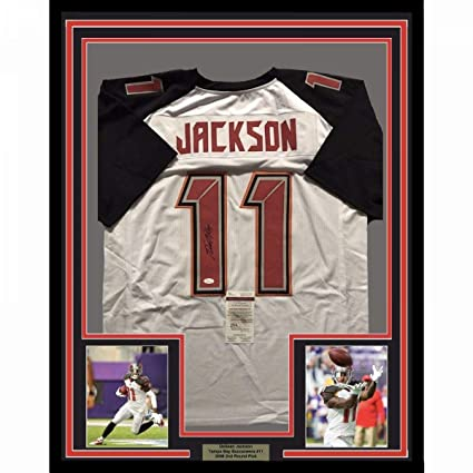 new product f391c 37129 Signed Desean Jackson Jersey - FRAMED 33x42 White COA - JSA ...