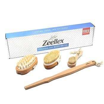 MashT Dry Brushing Long Handle Body Brush Set