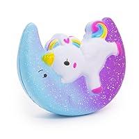 SPECOOL Star Lune Licorne Squishy, Ailes Licorne Kawaii Crème parfumée Squishy charmes pour Adultes et Enfants (Star Moon Licorne)