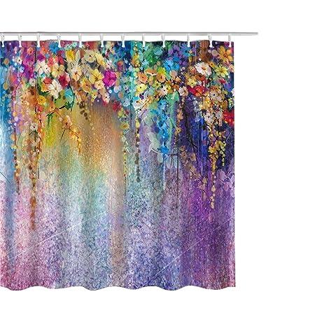 Hoomall Waterproof Shower Curtain Set Mildew-free Shower Curtain ...