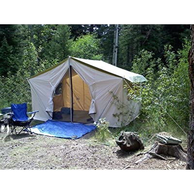 RT 12x9x5ft of 10.10oz Canvas Wall Poles Floor Sunforger Tent: Garden & Outdoor