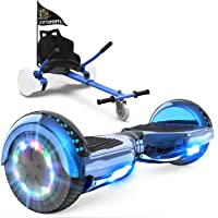 GeekMe Patinete Eléctrico Auto Equilibrio con Hoverkart, Hover Scooter Board, Balance Board + Go-Kart 6.5 Pulgadas con…