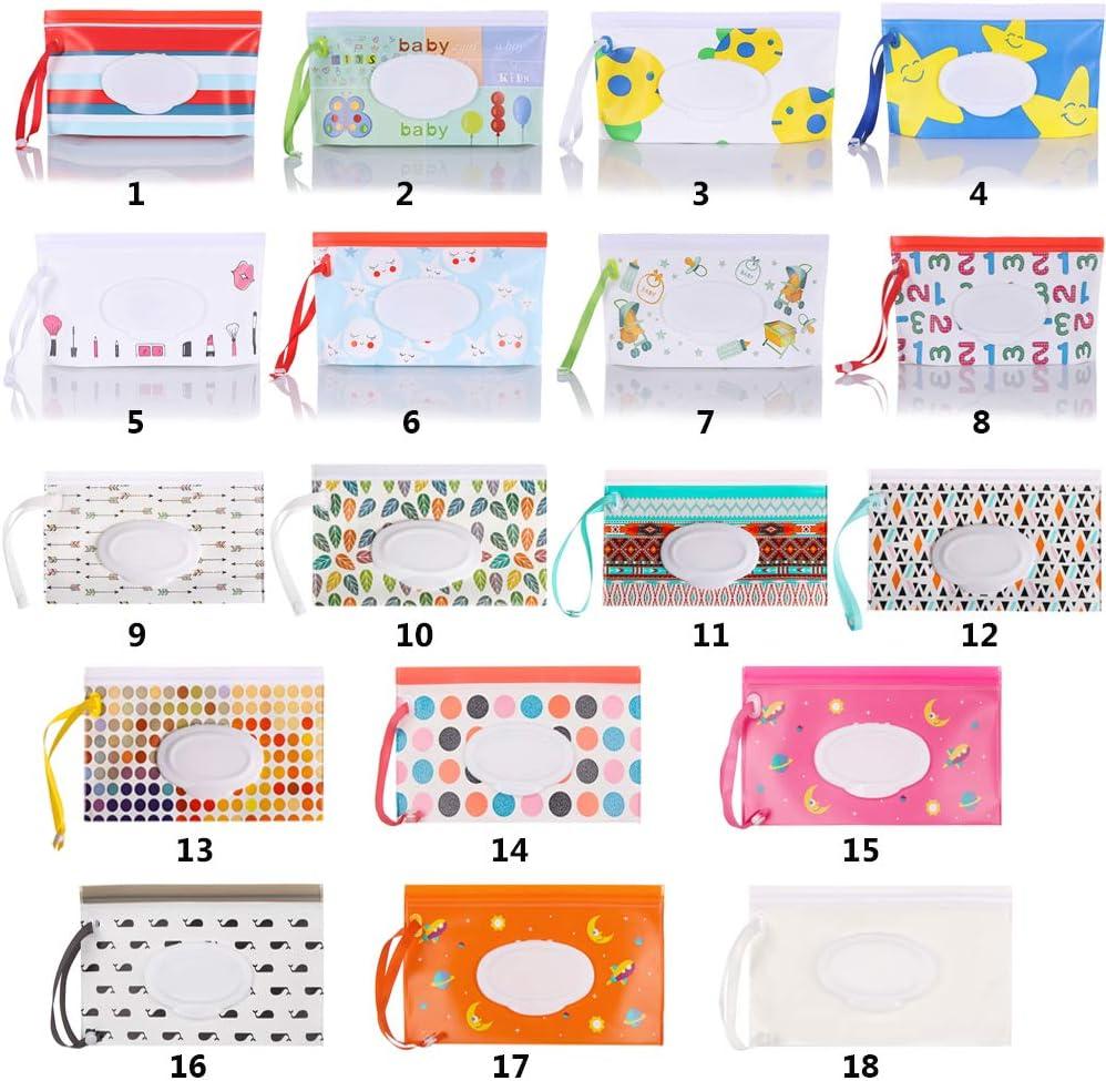 Caja de servilletas Accesorios para beb/és Bolsa h/úmeda Moda F 17 /útil adj Suministros para beb/és Protecci/ón Bot/ón de tarjeta Maleta Maquillaje