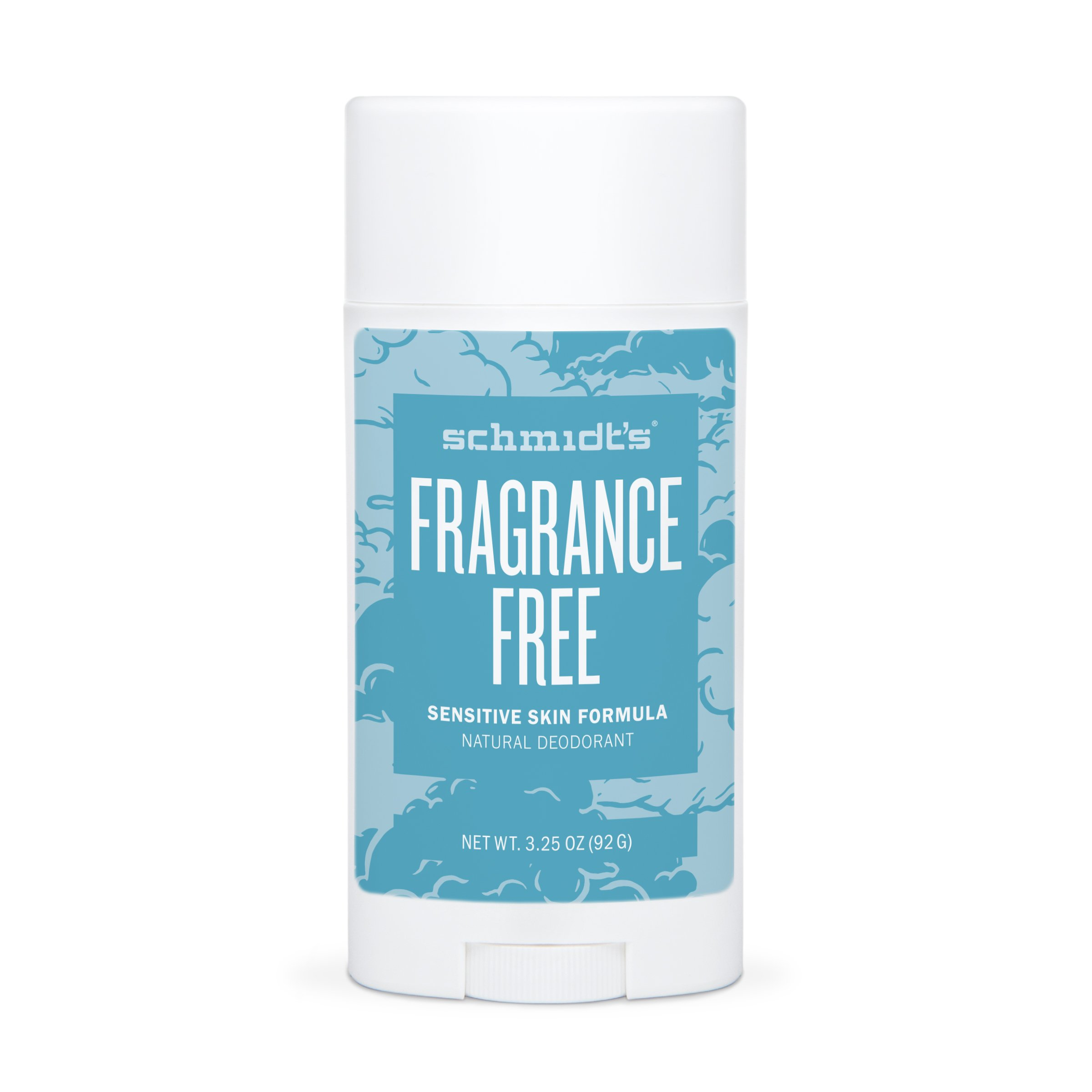 Schmidt's Natural Deodorant for Sensitive Skin - Fragrance-Free, 3.25 ounces. Stick for Women and Men