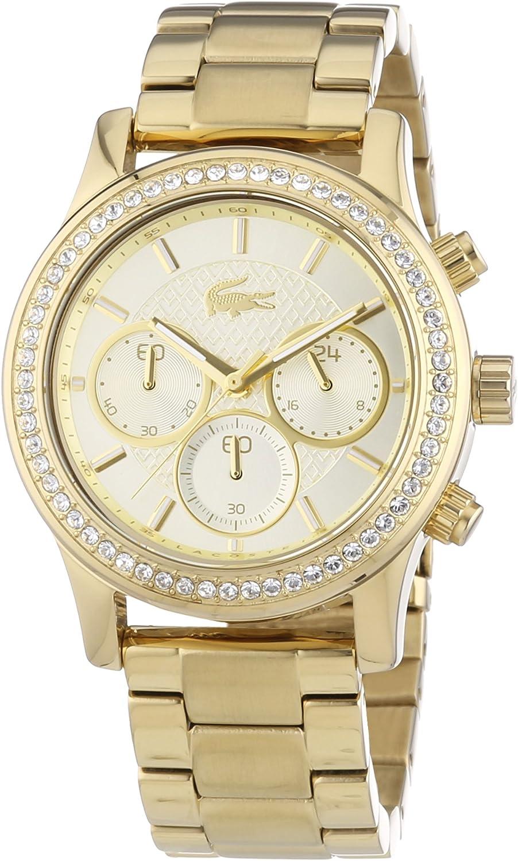 Lacoste Charlotte - Reloj (Reloj de Pulsera, Femenino, Acero Inoxidable, Oro, Acero Inoxidable, Oro)